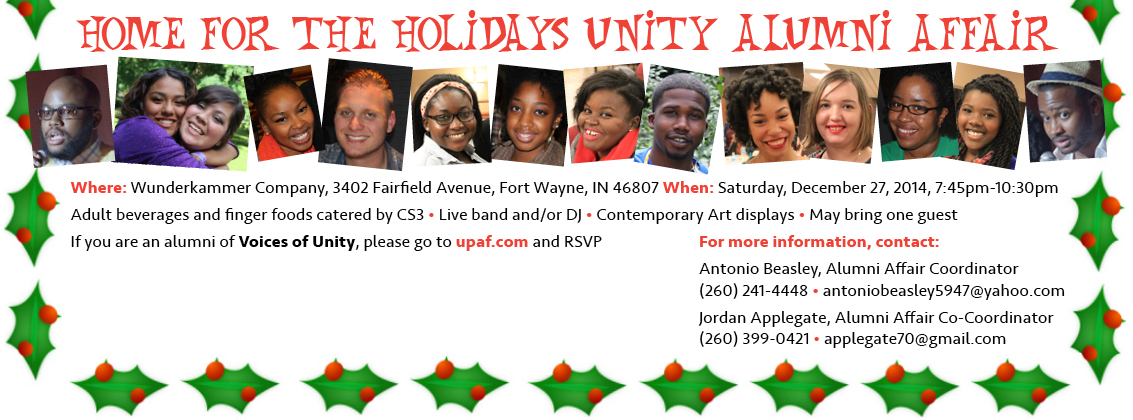 Calling All Voices of Unity Alumni!! Please RSVP