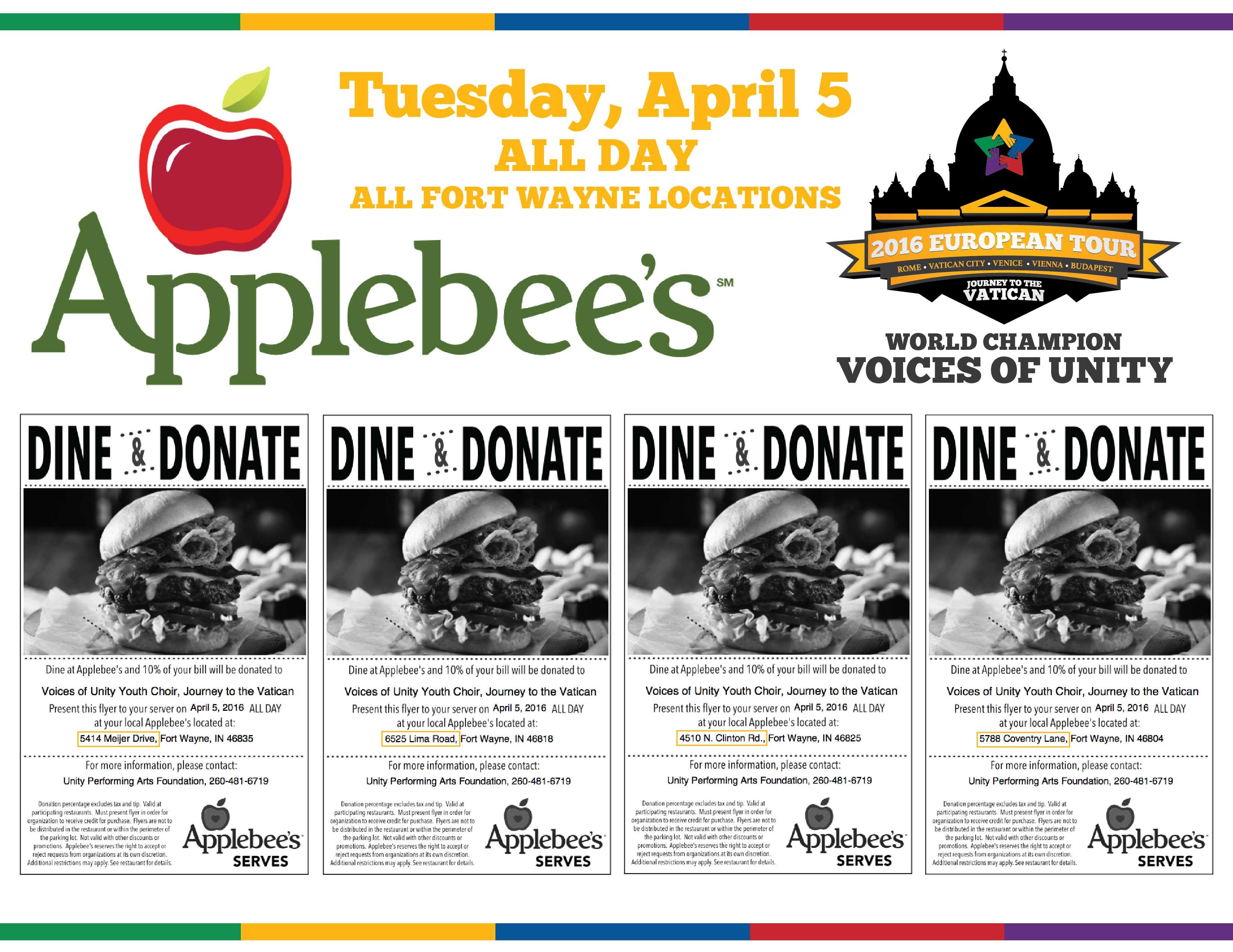 Applebee's entertainment coupon